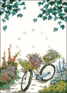 Схема Велосипед с цветами