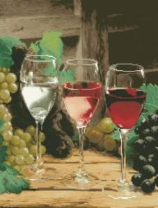 Схема Бокалы с вином