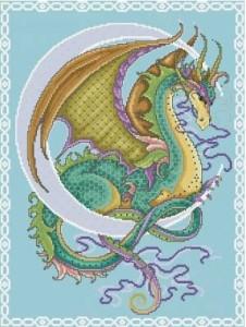 Схема Дракон цветной