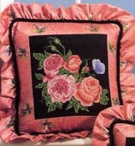 Схема Розы на черном, левый угол