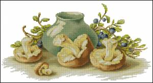 Схема Натюрморт с грибами
