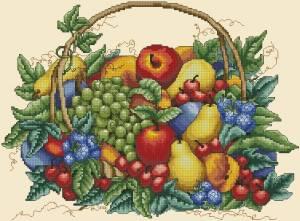 Схема Корзина с фруктами