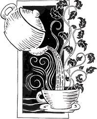 Вышивка чайник и чашки схема