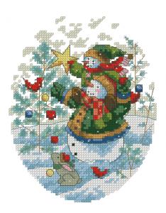 Схема Игривые снеговики и ёлка