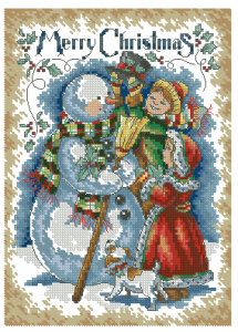 """Схема Открытка """"Счастливого Рождества"""""""