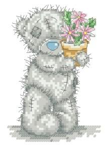Схема Мишки Тедди / Pink Flower Pot