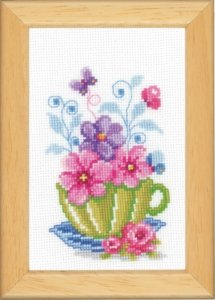 Схема Кухонная миниатюрка, цветы