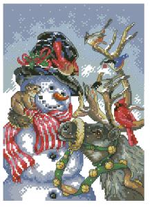 Схема Снеговик и олени