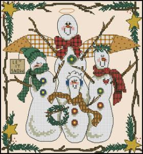 Схема Семейство снеговиков