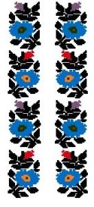 Схема Сорочка, цветы