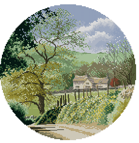 Схема Весна в деревне