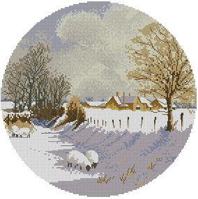 Схема Зимние овцы