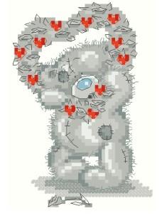 Схема Мишки Тедди / Valentine Heart