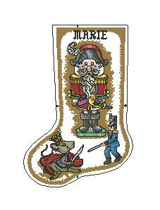 Схема Рождественский сапожок Щелкунчик