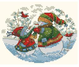 Схема Игривые снеговики