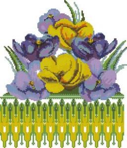 Схема Рушник, цветы