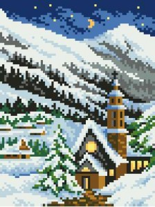 Схема Зима в горах