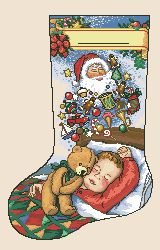Схема Рождественский сапожок «Мечты о рождестве» / Dreams of Christmas