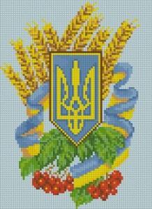 Схема Герб Украины, рябина и колосья