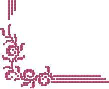Схема Розовая салфетка