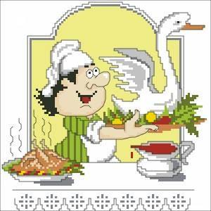 Схема Кулинар. С гусем. Поварята