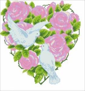 """Схема Рушник """"Для закоханих сердець"""""""