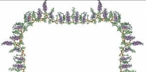 Схема Скатерть с глицинией