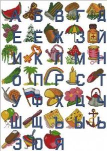 Схема Детский алфавит с картинками