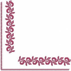 Схема Салфетка Розовый вьюнок / Pink Table Topper