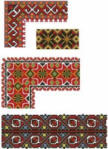 Схема Орнамент, звёзды на лентах