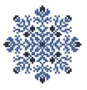 Схема Снежинка нежная