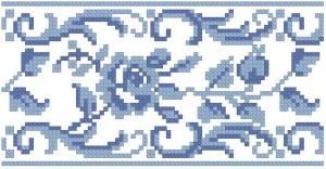 Схема Голубой узор