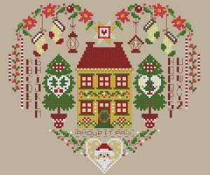Схема Рождественское сердечко милое