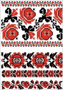 Схема Узор крупные цветы
