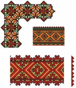 Схема Необычный орнамент, ленты и угол