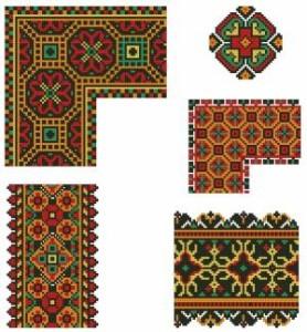 Схема Орнаменты цветочные