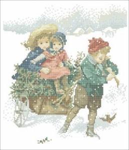 Схема Зимние хлопоты, доставка хвороста