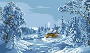 Схема Синяя зима (по картине В.Цыганова)