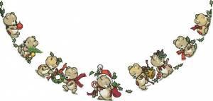 Схема Юбка под елку — мишки