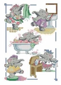 Схема Слоны для ванной