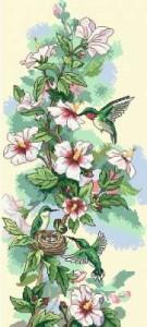 Схема Колибри и цветы / Hummin bird Art