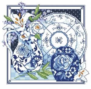 Схема Гжель / Blue&White
