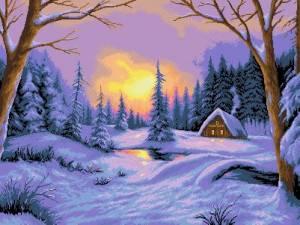 Схема Зимний закат