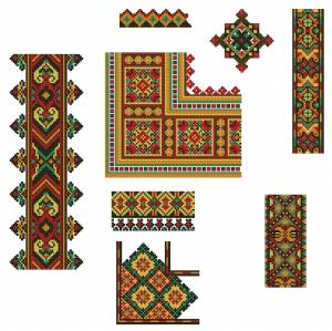 Схема Разнообразные орнаменты