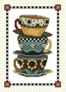 Схема Штабель чашек / Stacked cups