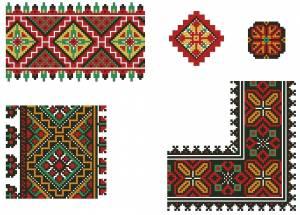 Схема Необычный орнамент, ленты и цветы
