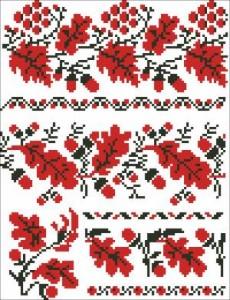 Схема Узор ягоды и листочки