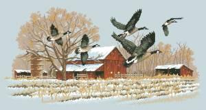 Схема Зимние гуси