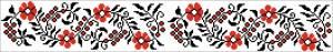 Схема Узор цветы, лента