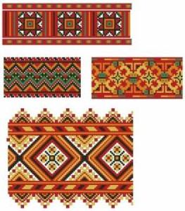 Схема Цветные орнаменты, ленты
